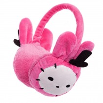 Cute Comfortable Earmuff Ear Warmer Winter Outdoor Accessories, Rose Red