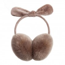 Girl's Bow Super Soft Earmuffs Winter Earmuffs Ear Warmers,Khaki
