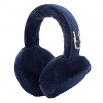 Folding Earmuffs Super Soft Earmuffs Winter Earmuffs Ear Warmers,Navy