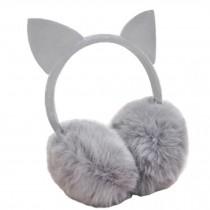 Lovely Cat Ears Super Soft Earmuffs Winter Earmuffs Ear Warmers, Gray