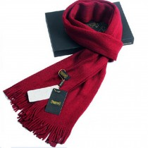Winter Men's Stylish Cold Scarf Acrylic Pure Color Knitting Long Scarf Red