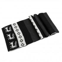 Fashionable Men's Warm Wool Scarf Black, white