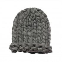 Soft Winter Crochet Cap Hat, Classic Style, High-Quality Wool cap, Gray