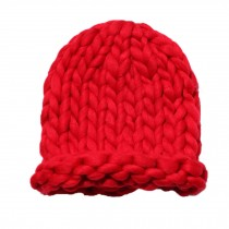 Soft Winter Crochet Cap Hat, Classic Style, High-Quality Wool cap, Red