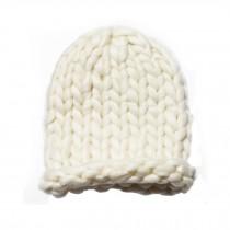 Soft Winter Crochet Cap Hat, Classic Style, High-Quality Wool cap, White