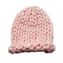 Soft Winter Crochet Cap Hat, Classic Style, High-Quality Wool cap, Pink
