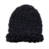 Soft Winter Crochet Cap Hat, Classic Style, High-Quality Wool cap, Navy