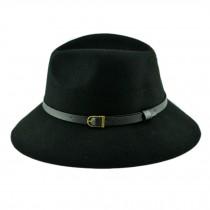 Billycock/ Women  Trendy  Bowler Hat Cap/ Classic Style/ Homburg, Black