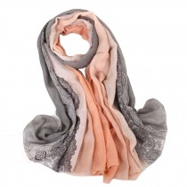 Fashion Scarves Winter Warm Cotton&Linen Scarf Infinity scarf,Bare Pink