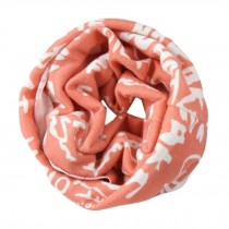 Child's Scarves Knitted Scarves Loop Scarfs Neck Wrap,Pink Words