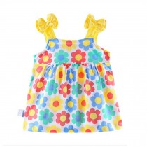 Baby Girl's Cotton Clothes Sleeveless Summer Vest With Bow,Flower