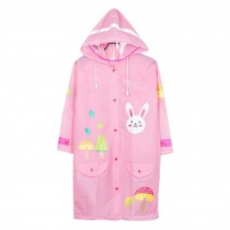 Unisex Kid's Lovely Raincoat Waterproof Raincoat Toddler,Pink, Rabbit