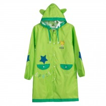 Lovely Unisex Kid's Raincoat Waterproof Raincoat Toddler,Green