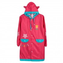 Lovely Unisex Kid's Raincoat Waterproof Raincoat Toddler,Rose Red