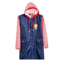 Cute Raincoat Waterproof Raincoat Toddler For Unisex Kids,Deep Blue