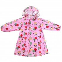 Unisex Kids Waterproof Raincoat Raincoat Toddler With Beautiful Pattern, Pink