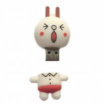Lovely Happy Face Expression USB2.0 Flash Drive Memory Stick/Disk 16GB White