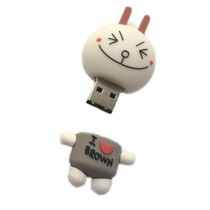 Lovely Smile Face Expression USB2.0 Flash Drive Memory Stick/Disk 16GB White