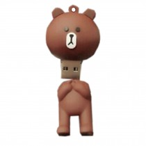 Lovely Bear USB2.0 Flash Drive Memory Stick/Memory Disk 16GB Brown