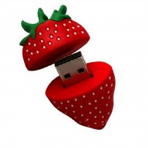 Lovely Cute Strawberry USB 2.0 Flash Drive Memory Stick/Disk 16GB Red
