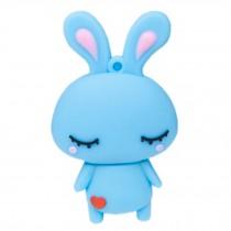 Cute Rabbit USB 2.0 Flash Drive Memory Stick SD Card Memory Disk 32GB Blue