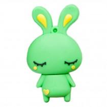 Cute Rabbit USB 2.0 Flash Drive Memory Stick SD Card Memory Disk 32GB Green