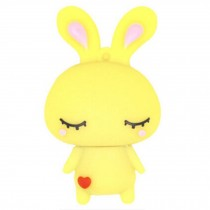 Cute Rabbit USB 2.0 Flash Drive Memory Stick SD Card Memory Disk 32GB Yellow
