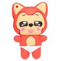 Cute Mini Fox USB 2.0 Flash Drive Memory Stick SD Card Memory Disk 32GB Red