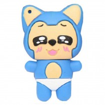 Cute Mini Fox USB 2.0 Flash Drive Memory Stick SD Card Memory Disk 32GB Blue