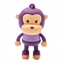 Cute Monkey USB 2.0 Flash Drive Memory Stick SD Card Memory Disk 32GB Purple