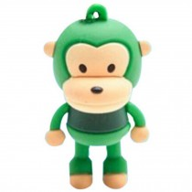 Cute Monkey USB 2.0 Flash Drive Memory Stick SD Card Memory Disk 32GB Green