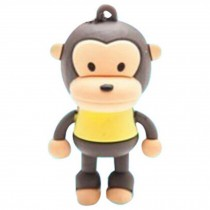 Cute Monkey USB 2.0 Flash Drive Memory Stick SD Card Memory Disk 32GB Yellow