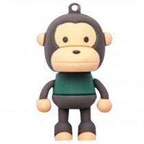 Cute Monkey USB 2.0 Flash Drive Memory Stick SD Card Memory Disk 32GB Black