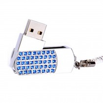 Cute Crystal USB 2.0 Flash Drive Memory Stick SD Card Memory Disk 32GB Blue