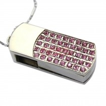 Cute Crystal USB 2.0 Flash Drive Memory Stick SD Card Memory Disk 32GB Pink