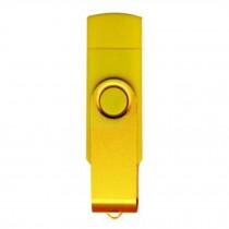 16GB Double Plug Cellphone/PC USB Storage Flash Drive Memory Stick/Disk Yellow