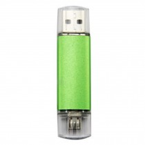 16GB Double Plug Cellphone/PC USB Flash Drive Dual-Purpose Memory Stick Green