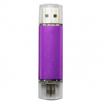16GB Double Plug Cellphone/PC USB Flash Drive Dual-Purpose Memory Stick Purple