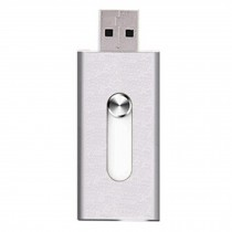 16GB Double Plug Iphone/Ipad/PC USB Flash Drive Dual-Purpose Memory Stick Silver
