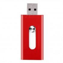 16GB Double Plug Iphone/Ipad/PC USB Flash Drive Dual-Purpose Memory Stick Red
