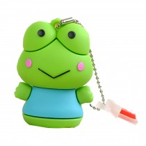 Lovely Frog USB 2.0 Flash Drive Memory Stick USB 2.0 Memory Disk 32GB Green
