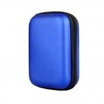 Rectangle Blue Headphone Earphone Case Bag Easy Carrying Storage Bag