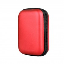 Earbuds Headphone Bag Case Storage Bag Easy Carrying Rectangle red