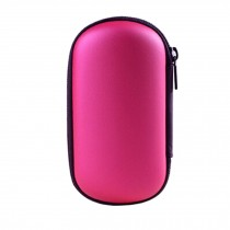Cable Earphone Storage Case Convenient Headset Carrying Case Bag rose red