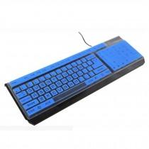 Desktop Computer Keyboard Cover Silicone Skin Keyboard Protector Blue