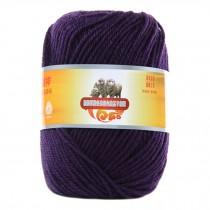 Luxury 100% Soft Lambswool Yarn Thick Quick Yarn Premium Soft Yarn, Purple