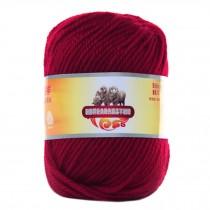 Luxury 100% Soft Lambswool Yarn Thick Quick Yarn Premium Soft Yarn, Crimson