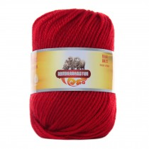 Luxury 100% Soft Lambswool Yarn Thick Quick Yarn Premium Soft Yarn, Red