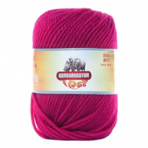 Luxury 100% Soft Lambswool Yarn Thick Quick Yarn Premium Soft Yarn, Rose Red
