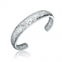 Eye-Catching Hollow-carved Silver Plated Bracelet Bangle Charm Bracelets